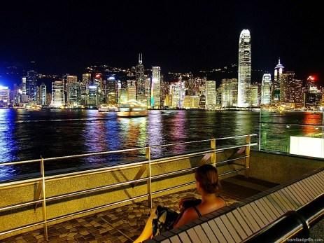 Seara, pe promenada Kowloon Public Pier