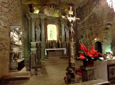 Altarul din sare al bisericii subterane