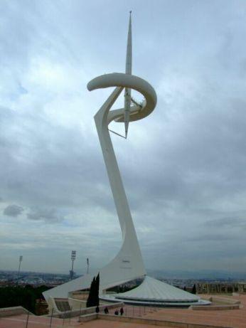 Montjuïc Communications Tower, Barcelona, Spania