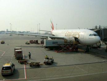 Avionul Emirates cu care am venit din Dubai