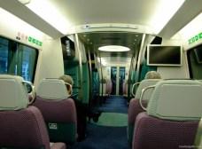 Trenul MTR ce leagă aeroportul de oraș