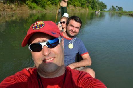 În canoe