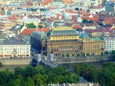 Teatrul Naţional, văzut din Turnul Petrin