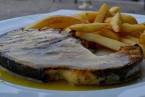 Xifias marinates - pește spadă în Skiathos