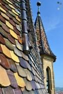 În turnul bisericii evanghelice din Sibiu