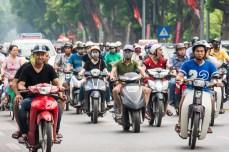 În aglomerația din Hanoi