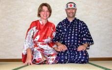 Japonezii în ryokan