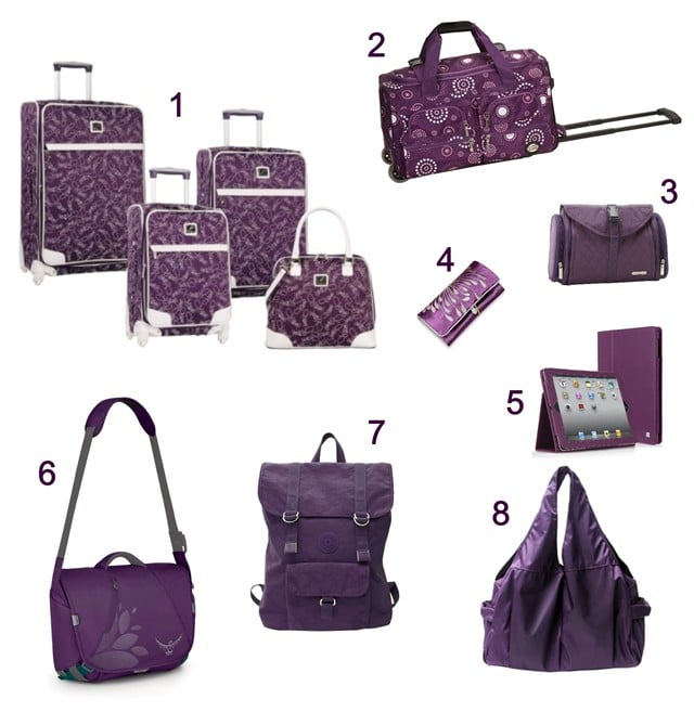 Purple Luggage For Women