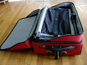 Suitcase compartments and pockets
