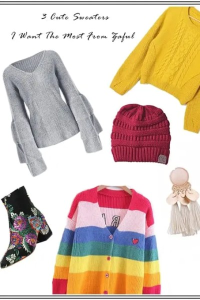 Cute Sweaters For Fall   Sweater Season   Fall Sweaters   3 Cute Sweaters I Want The Most From Zaful   Cute Sweaters   Travel Beauty Blog