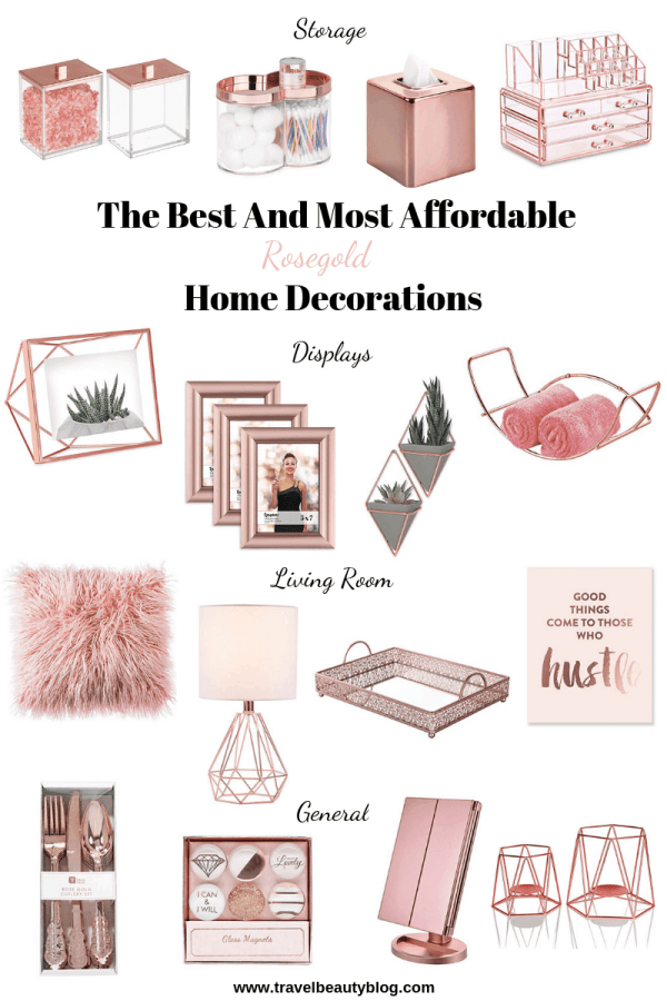 Home Decorations | Affordable Home Decor | Travel Beauty Blog | Amazon Finds For Home | Amazon Home Decor | Rosegold Decorations | Gold Decor