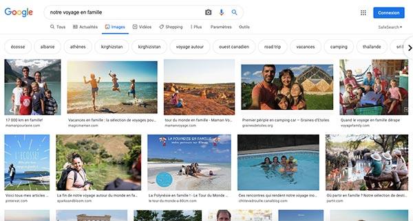photos de voyage sur google