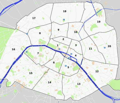 Paris area map