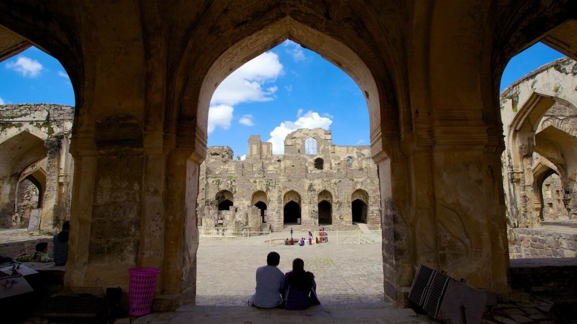 golconda fort interior view