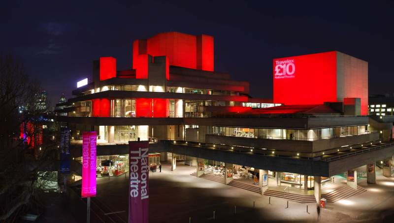 national theatre at night london