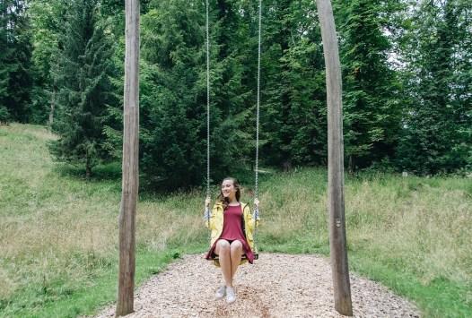 Haley swinging
