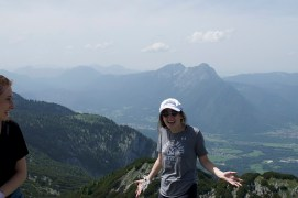 smiling on top of untersberg