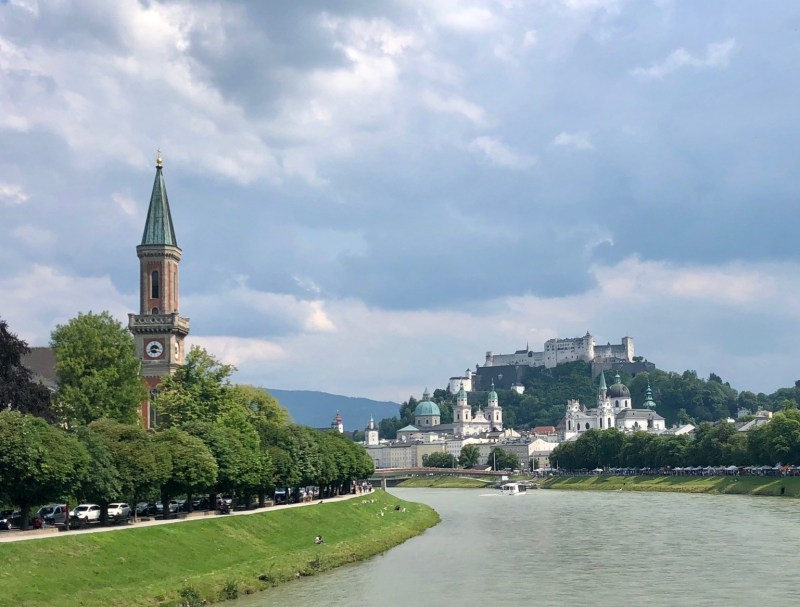 Salzburg and Salzach River