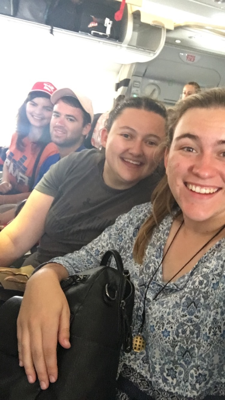 Kelley's first selfie taken on US soil in over a month. Even though we were all happy to back home, each of us knew that once we got off that plane the trip would really be over. Don't let the smiles fool you, the moment was very bittersweet.