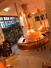 Inside we learned about the brewing process and how Heineken markets their beer.