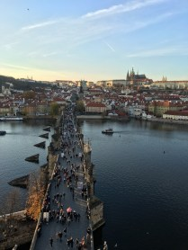 View of Prague from the Charles Bridge Tower
