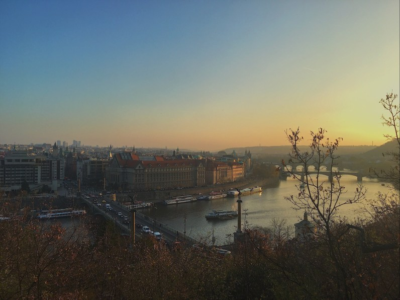 The View from the Metronome in Prague.