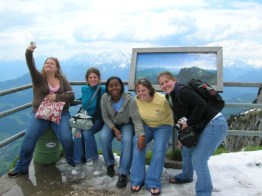 Students from CofC on top of Untersberg in 2006.