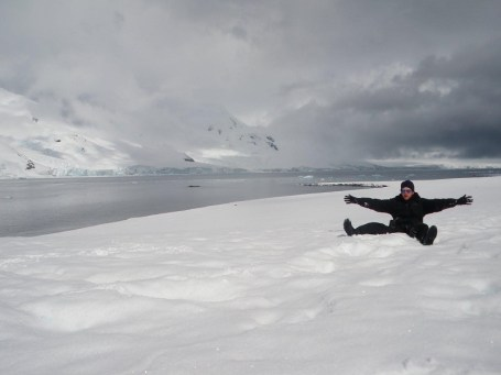 Jonny Blair at Half Moon Island Antarctica