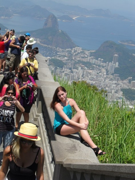 On top of Christ the Redeemer statue in Rio