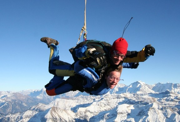 Bucket list complete. Skydiving over the Swiss Alps.