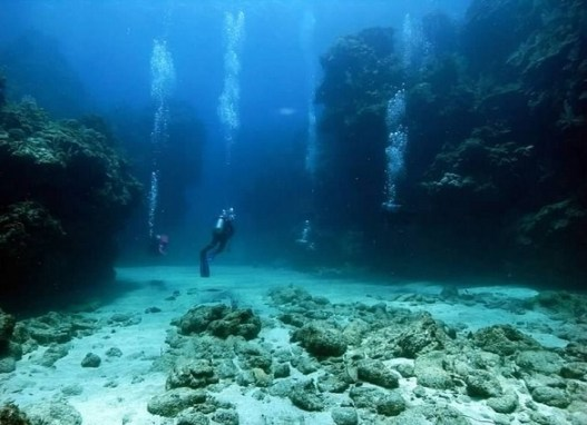 Rika leading divers at one of Roatan's most beautiful dive sites, Mickey's Place