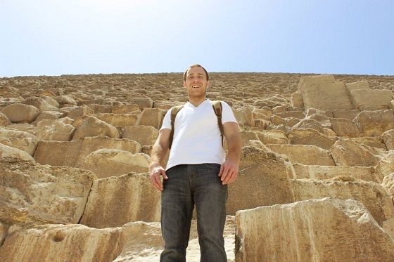 Stephen at the pyramids