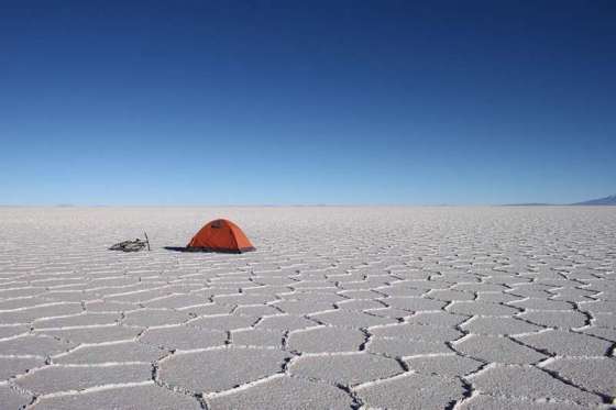 Morning at Salar de Uyuni, Bolivia by Thomas Andersen of Cycling The Globe