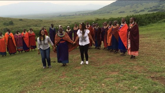 Ashlee Tuck of Will Drink For Travel with Maasai in Tanzania