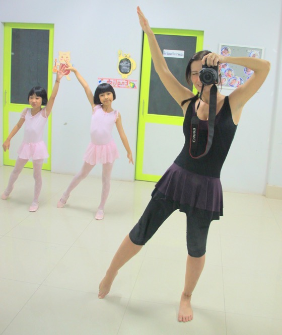 Clelia teaching ballet in Thailand Clelia Mattana or Kle from Keep Calm and Travel