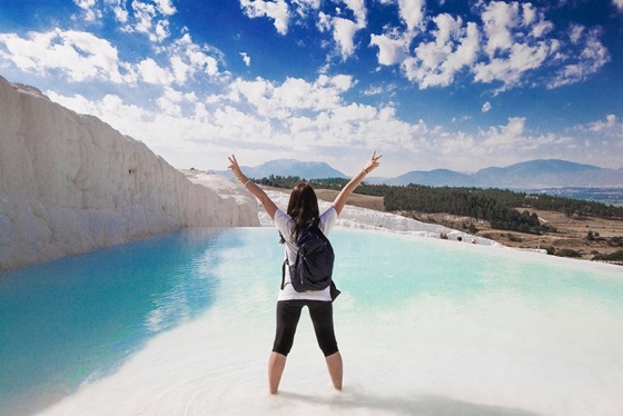 One of my favorite places ever! Pamukkale natural Pools in Turkey by Clelia Mattana or Kle from Keep Calm and Travel