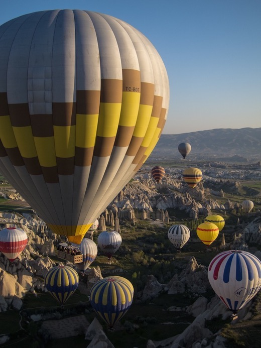 Hot air ballooning over Cappadocia, Turkey