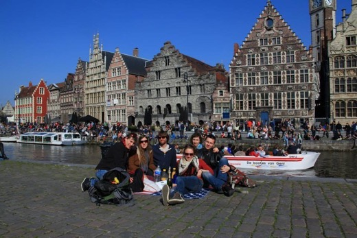 With friends in Ghent, Belgium