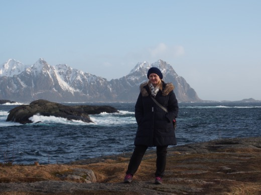 Kristine Wanders in Lofoten Islands, Norway