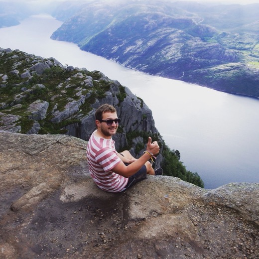 A thumbs up from Paul Ram of Go Backpack Go in Norway
