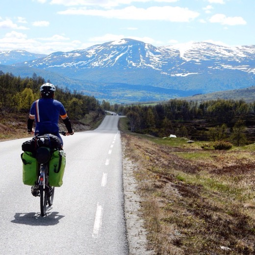 Paul Ram of Go Back Pack Go is Cycling in Norway