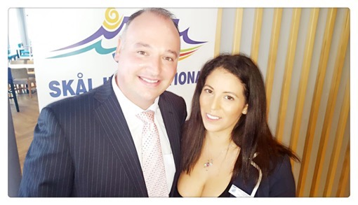 Myself and James Vos, Shadow Minister of Tourism in South Africa from The Jax Blog