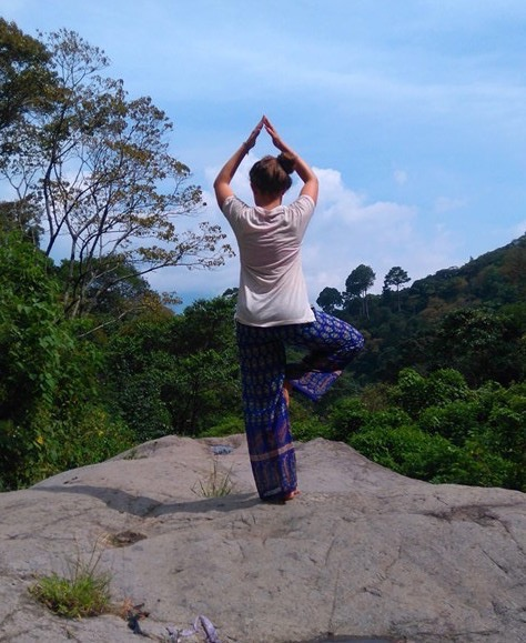 I love yoga - I try and do it wherever possible when I'm travelling! By Claire Martin of Claire's Footsteps