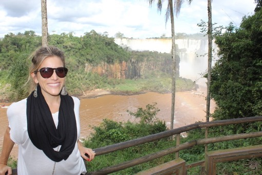 Shannon Kircher at Iguassu Falls