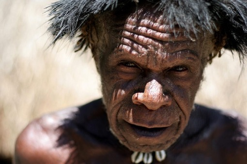 A Papua old man