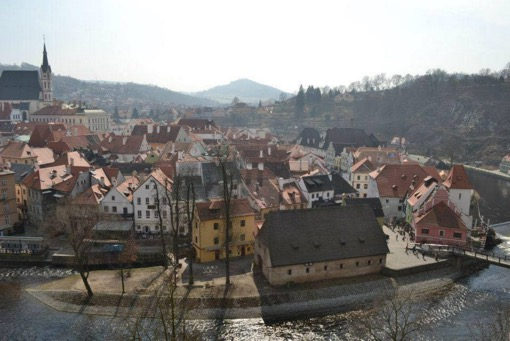The view from Czesky Krumlov castle, 2012.