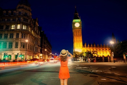 Cory Calcea in London with You Could Travel Big Ben
