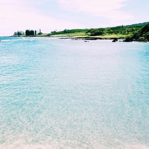 Micayla's favorite beach at the end of the road to Hanna on Maui, Hawaii