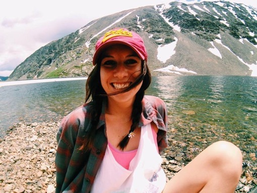 Micayla Gilligan of Beyond My Home at the Blue Lakes Colorado