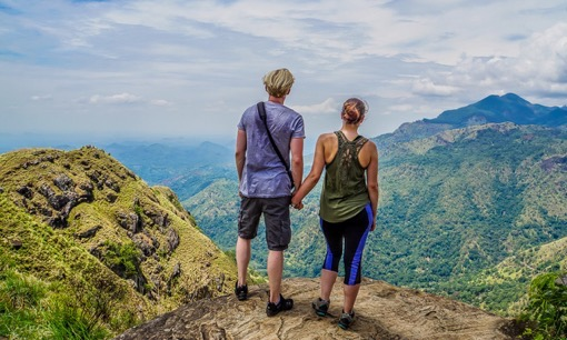 Darren and Shelley at Little Adams Peak, Sri Lanka for Finding Beyond